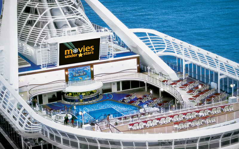 Princess Cruises Caribbean Princess Movies under t