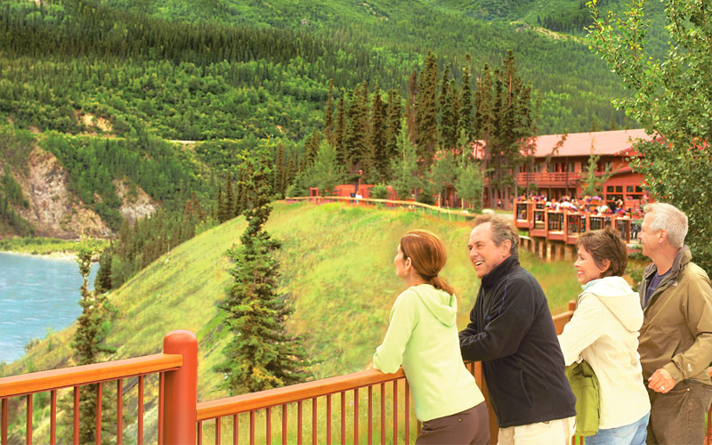 Princess Cruises Couple at Denali Wilderness Lodge