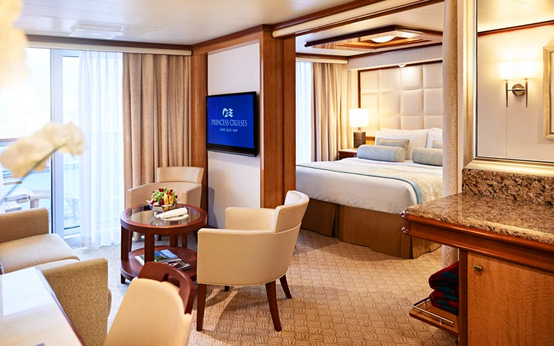 Suite aboard Sky Princess