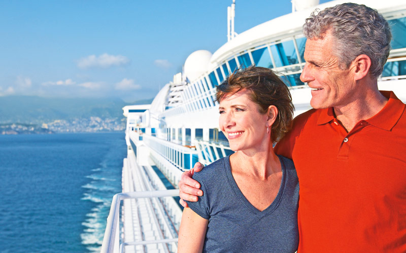 Princess Cruises Star Princess couple on deck