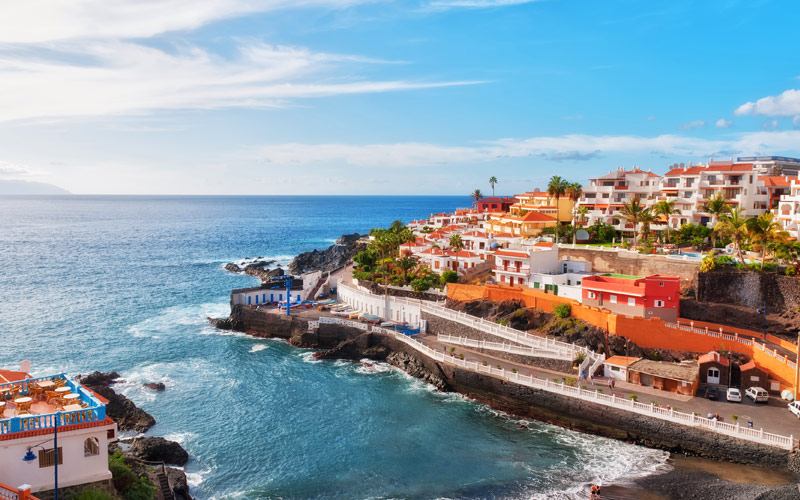 Puerto Santiago Tenerife in the Spanish Canary Isl