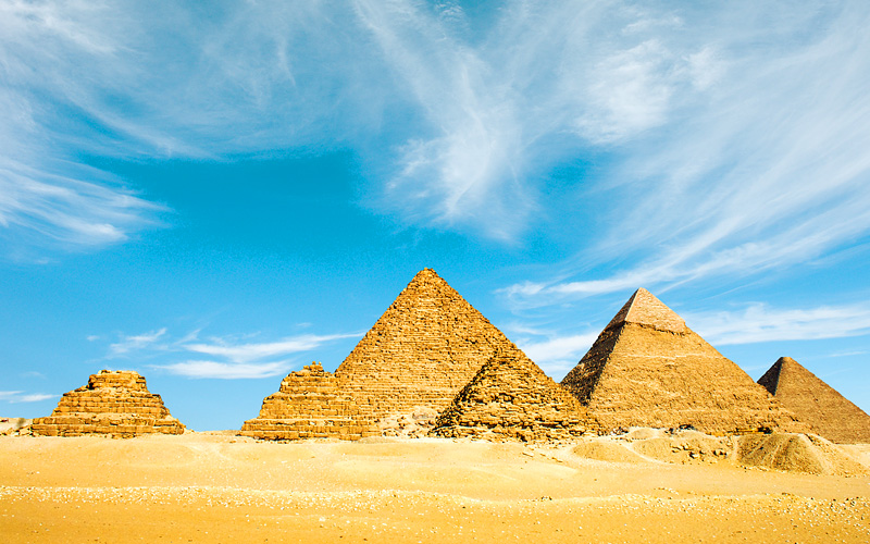 Pyramids of Giza Egypt Africa