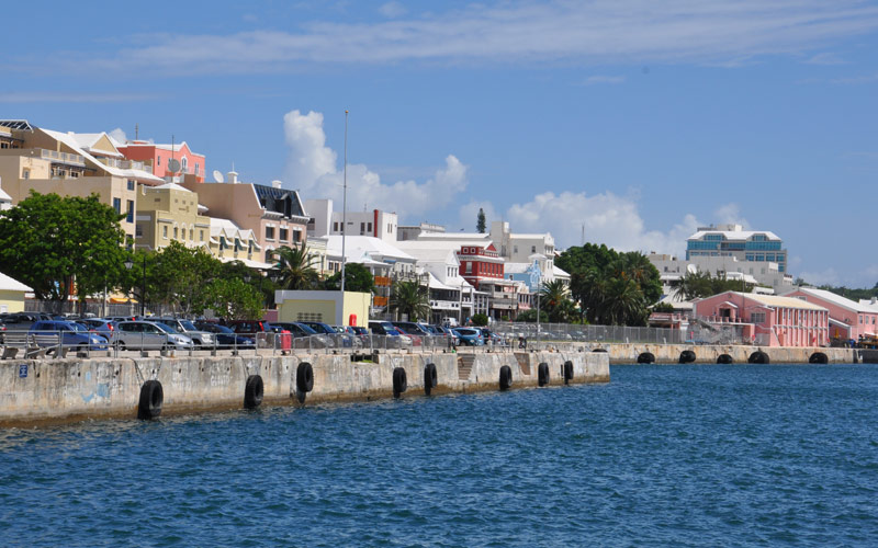 Hamilton, Bermuda waterfront Regent Seven Seas