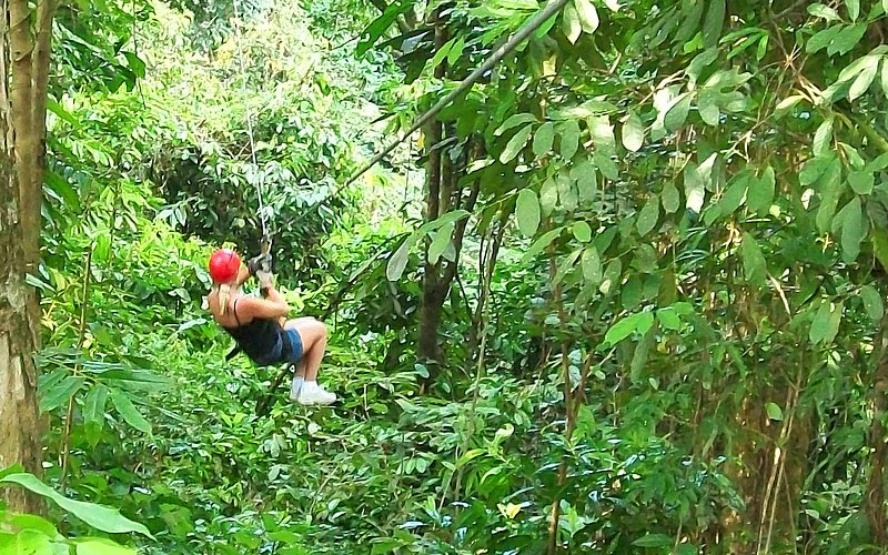 Jungle Zipline in Mexico