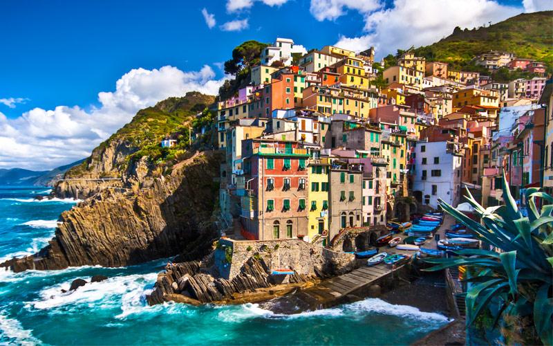 Riomaggiore fisherman village Cinque Terre Italy