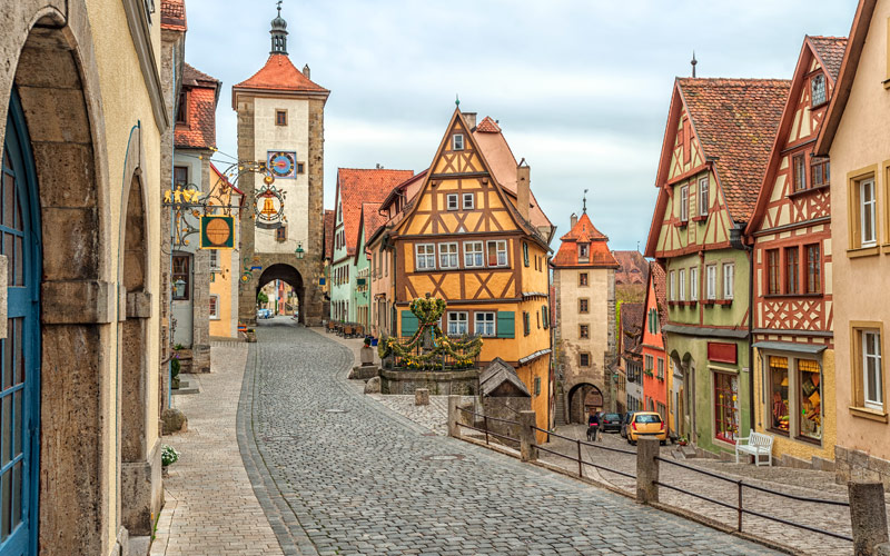 Rothenburg ob der Tauber historical town Germany