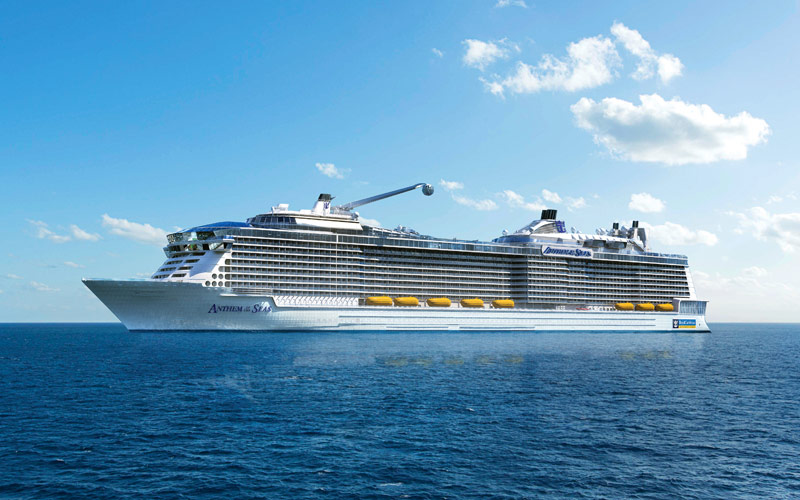 Royal Caribbean S Anthem Of The Seas Cruise Ship 2018 And 2019 Anthem Of The Seas Destinations