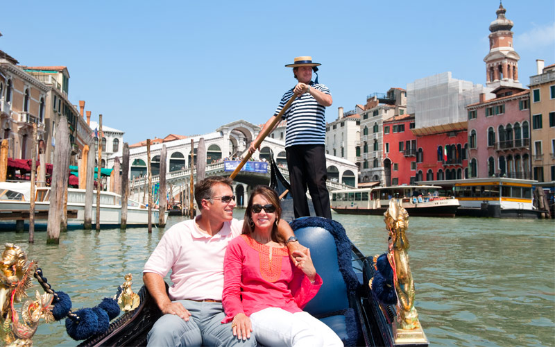 Royal Caribbean Cruisetour Couple on Gondola Italy