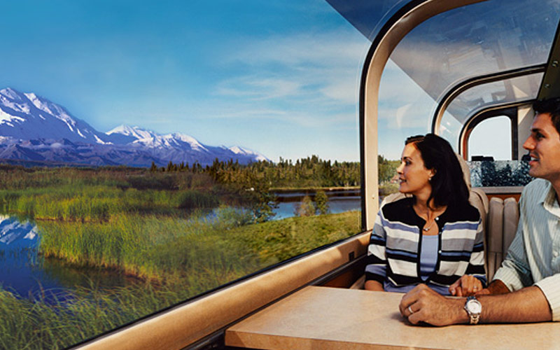 Royal Caribbean Alaska Cruisetour Train Ride