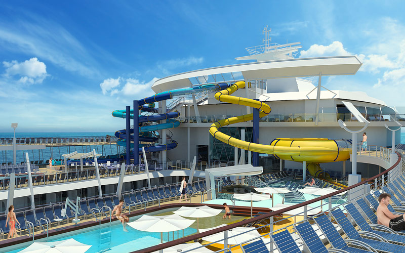 Royal Caribbean Harmony of the Seas Water Slides