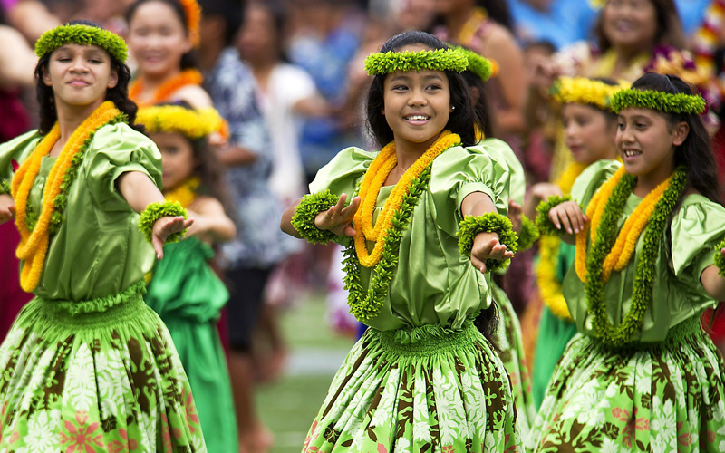 Hawaiian Hula Dancers - Royal Caribbean
