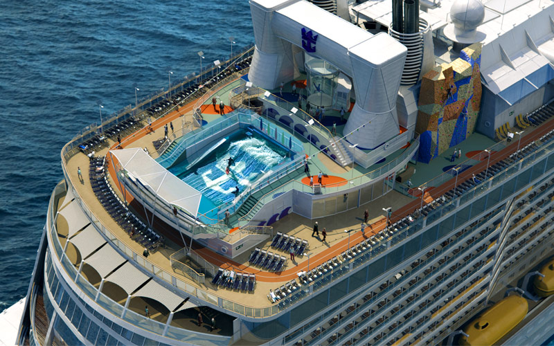 Royal Caribbean Quantum of the Seas Aerial