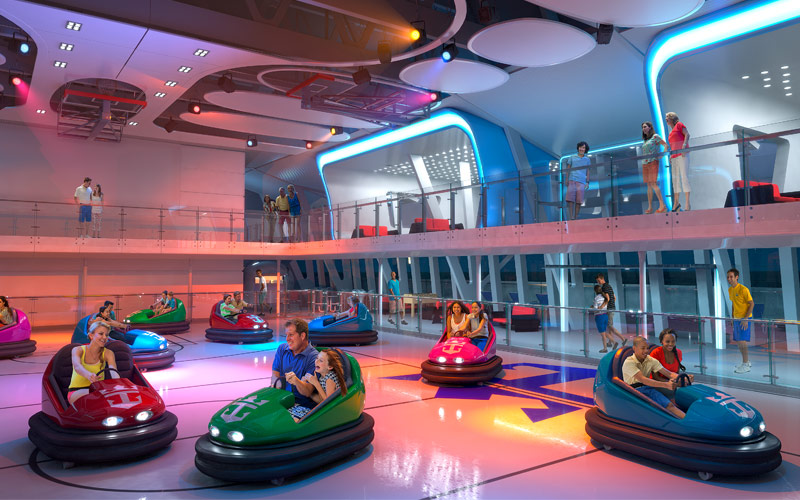 Royal Caribbean Quantum of the Seas bumper cars