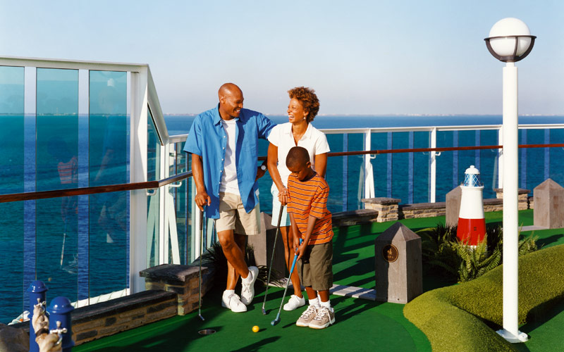 Royal Caribbean Radiance of the Seas Mini Golf
