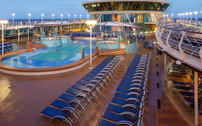 Royal Caribbean Rhapsody of the Seas Pool Deck