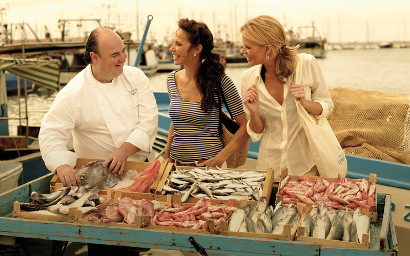 Shopping with Seabourn Chef Onshore