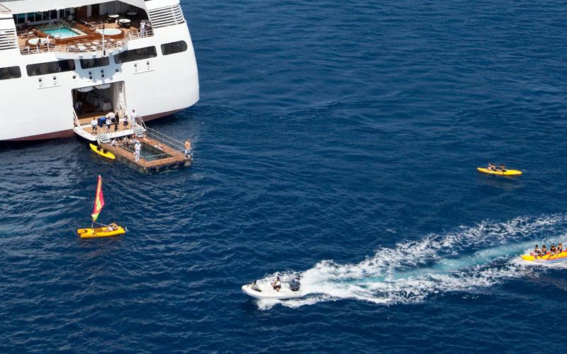 Seabourn Cruise Line onboard marina
