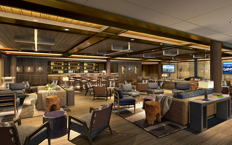 Expedition Lounge aboard Seabourn Venture