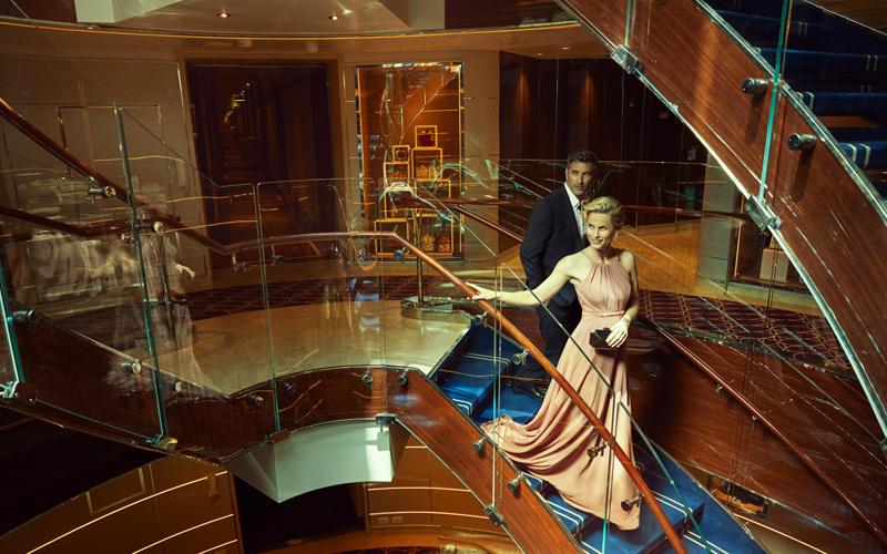 Atrium aboard Seabourn Encore