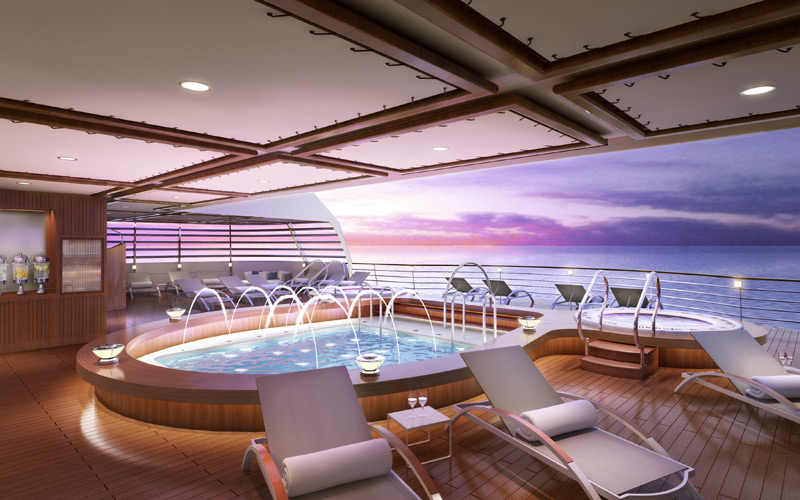 Seabourn Ovation Aft Pool Rendering