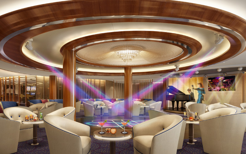 Seabourn Ovation Club Lounge Rendering