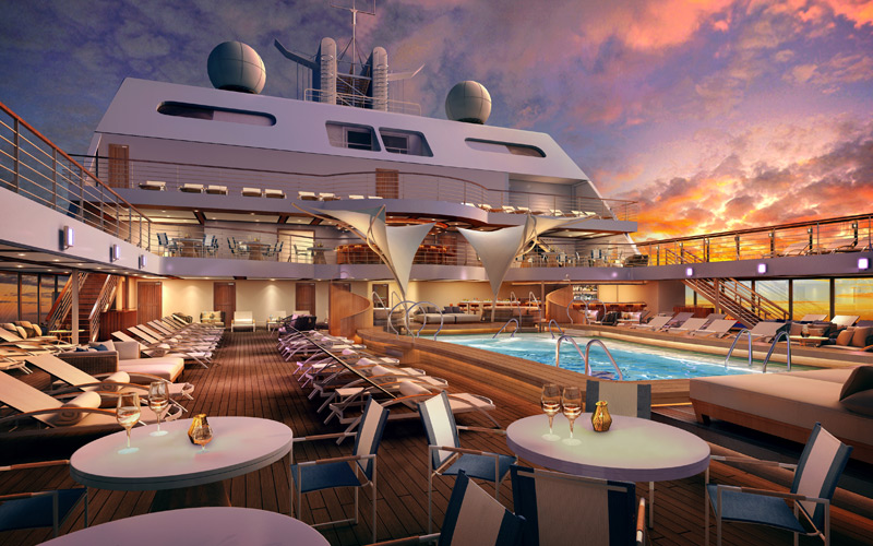 Seabourn Ovation Pool Deck Rendering