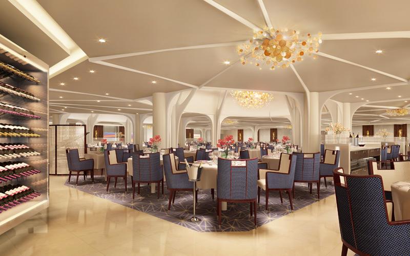 Seabourn Ovation Restaurant Rendering