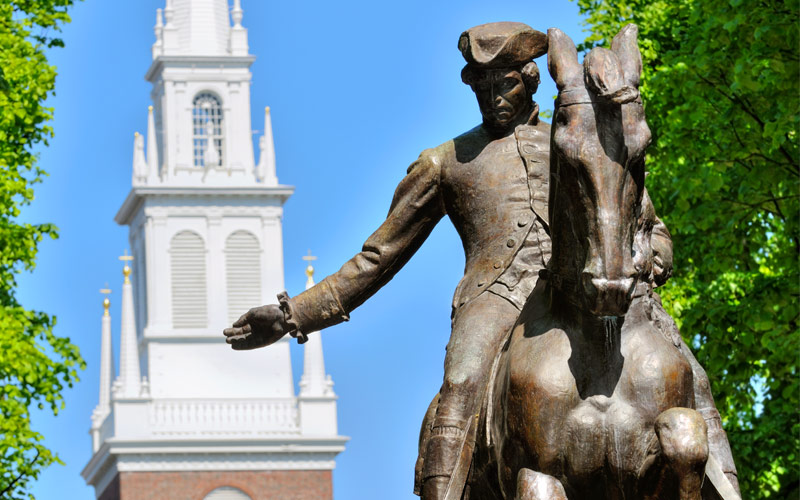 Paul Revere Statue in Boston Seabourn Canada