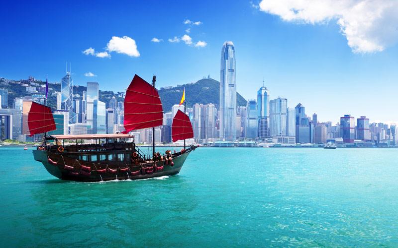 Ship in Hong Kong Harbor