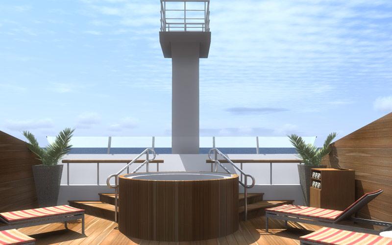 Silversea Cruise Line Silver Galapagos jacuzzi