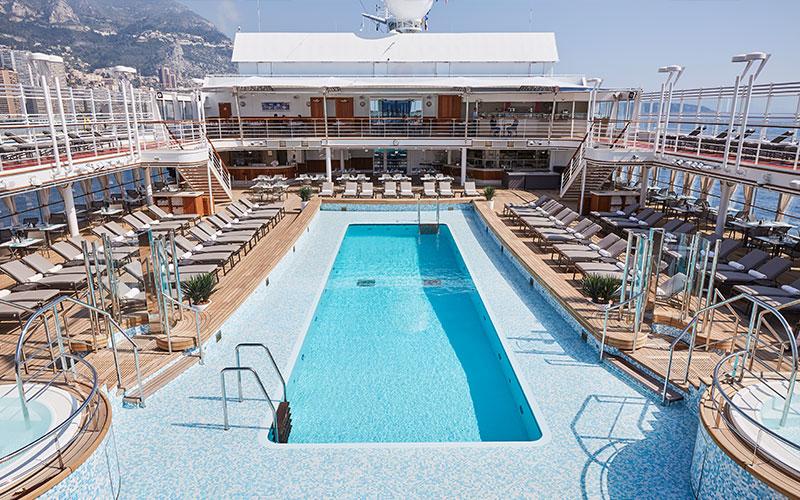 Pool deck aboard Silver Moon