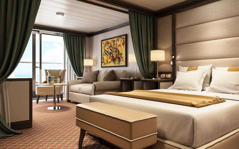 Veranda Suite aboard Silver Muse