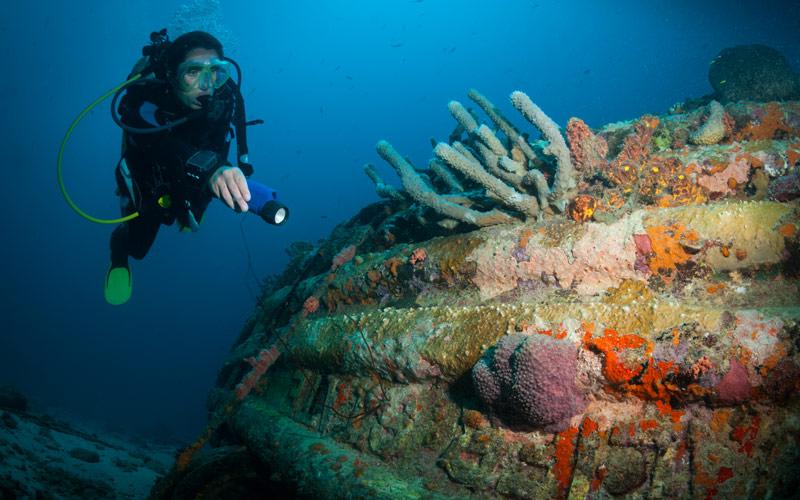 Scuba Diver in Bonaire Silversea Cruises Caribbean