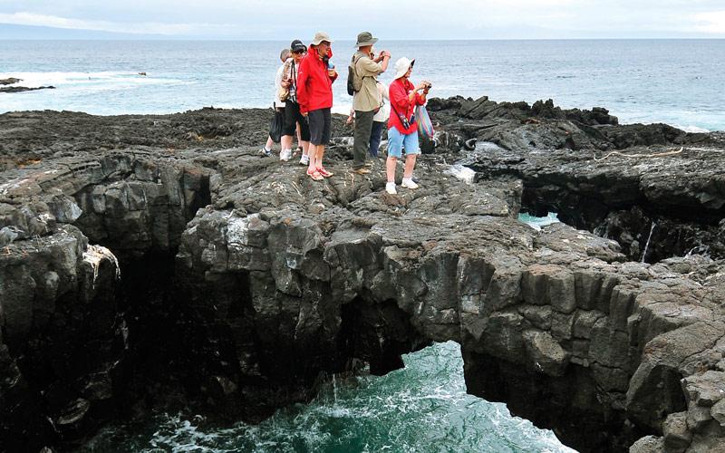 Silversea Galapagos cruises Santiago Coastline