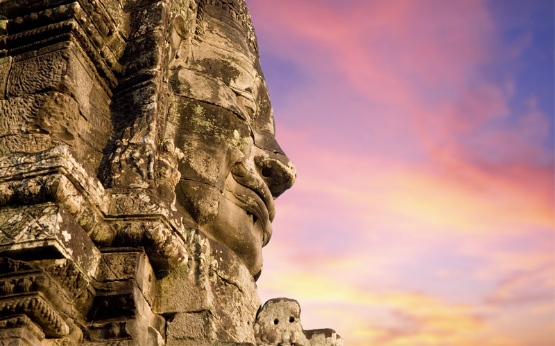 Smiling Faces in the 13th century Temple of Bayon
