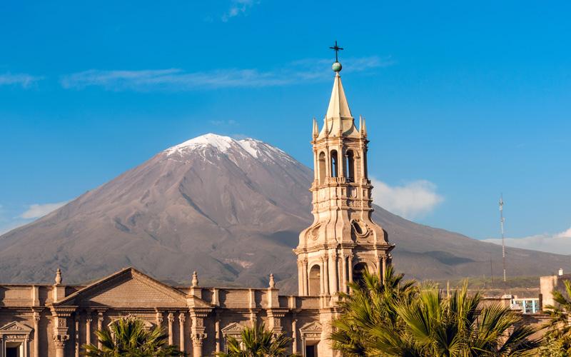 Volcano El Misti. Arequipa in southern Peru