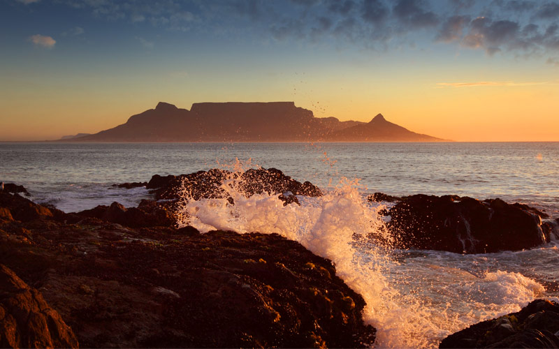 Table Mountain Sunset Cape Town South Africa