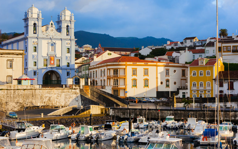 The city of Angra do Heroismo, Terceira Island