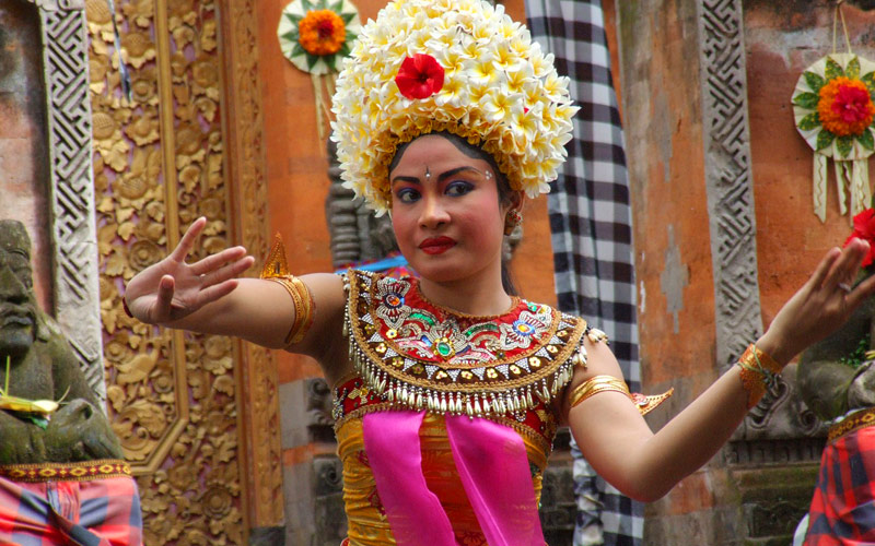 Traditional Balinese dancing