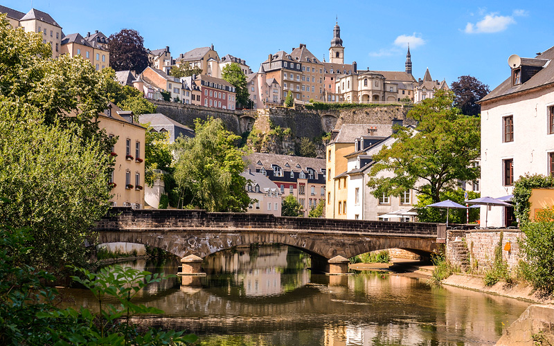 Alzette River in Luxembourg City Uniworld Europe