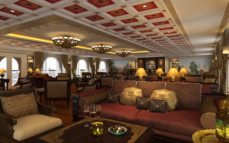 Governors Lounge on the Ganges Voyager II