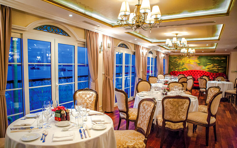 Le March Restaurant on board the Mekong Navigator