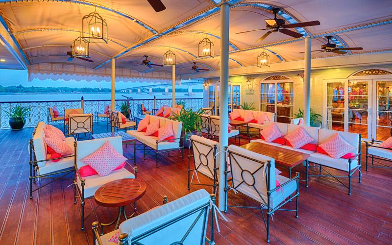 Observation Lounge aboard Mekong Navigator