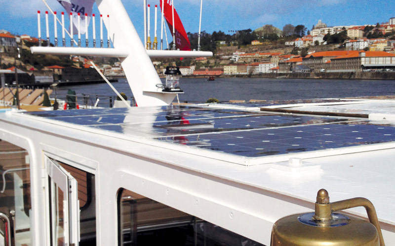 Solar panels help power Queen Isabel