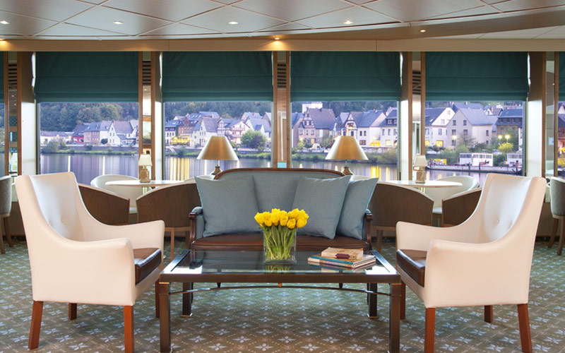 Lounge onboard River Empress
