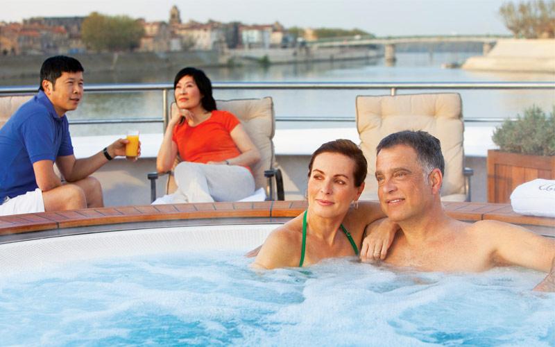 Uniworld River Cruises River Royale sun deck
