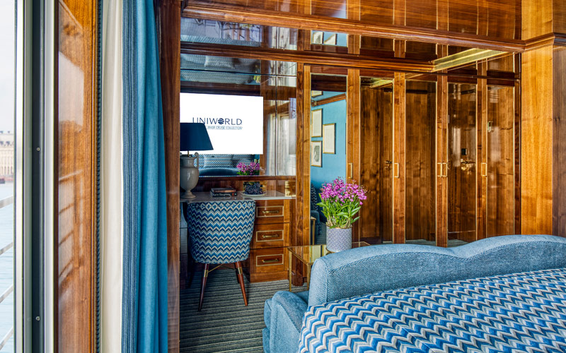 Suite accommodations on S.S. Bon Voyage