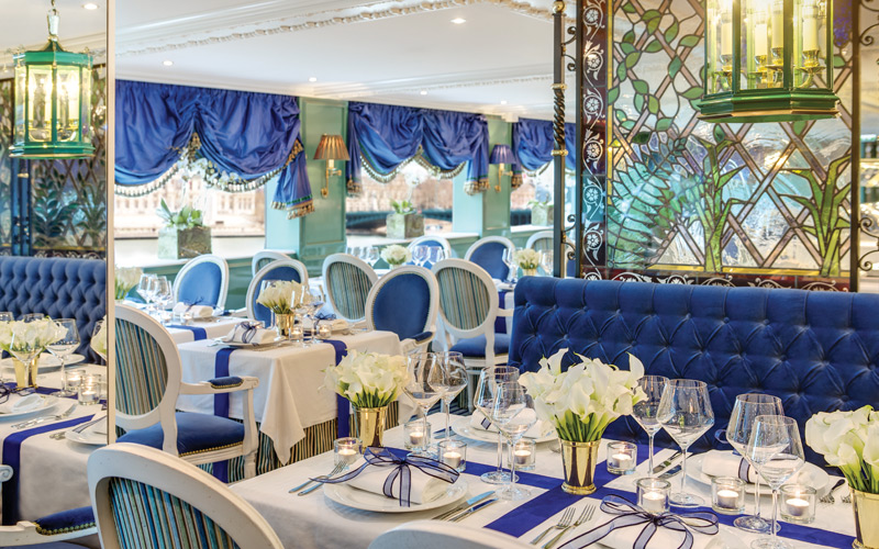 Restaurant aboard Uniworld S.S. Catherine