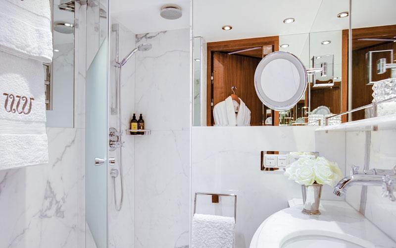 Bathroom aboard S.S. Joie de Vivre