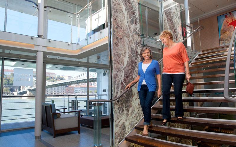 The atrium on Viking Egil